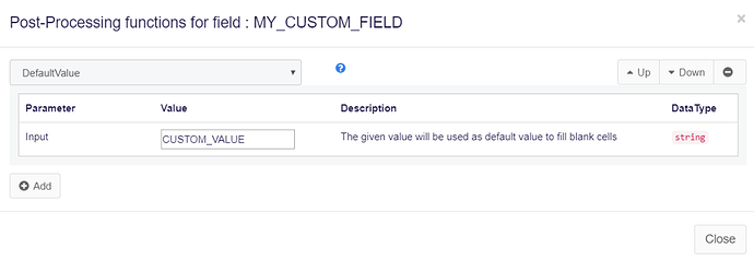 Set custom field value in web scraping agent