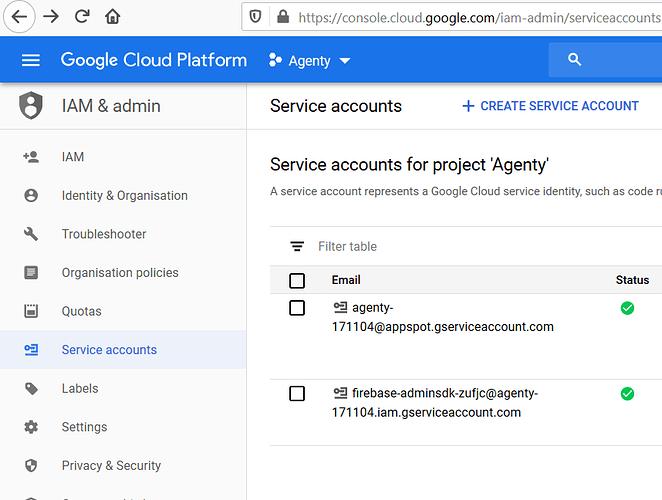 Go go Google service acocunt