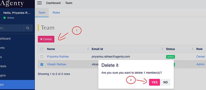 delete team member