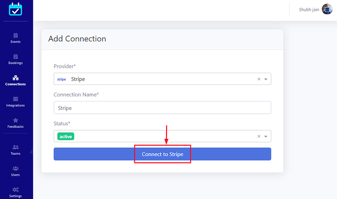 Stripe Oauth screens to connect