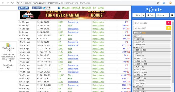 proxy website scraping