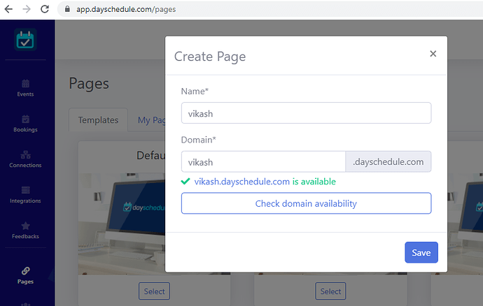Scheduling pages