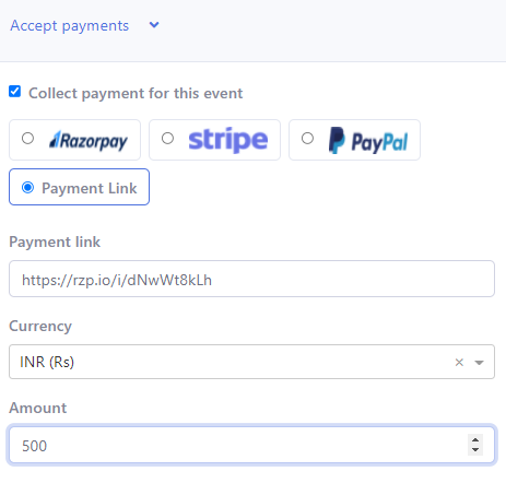 Payment integration for vaccination fee
