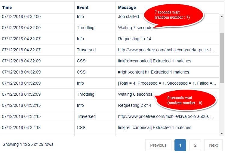 random seconds delay in web scraping