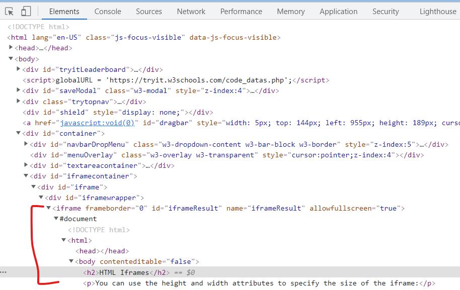 iFrame HTML